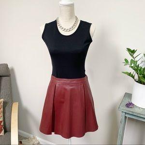 Susana Monaco Leather Madeleine Skater Skirt